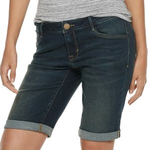 Apt. 9 cuffed Bermuda denim shorts sz 6P